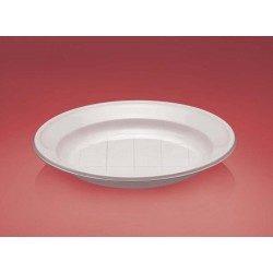 Platos de Plástico Reforzado Postre Blancos 170mm