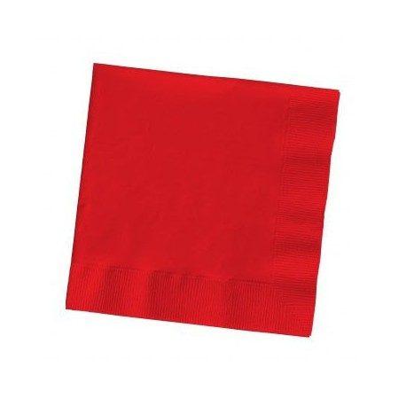 Servilletas Papel Tissue 33 x 33 cm Rojas 2 Capas