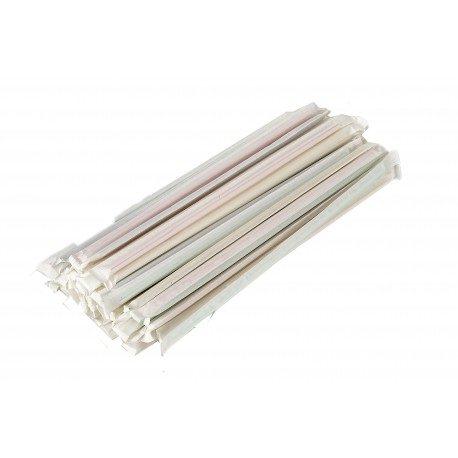 Cañas Flexibles Colores Enfundadas en Papel  23cm (Caja 6.000 Uds)
