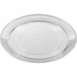 Bandeja de Plástico PS Lux Transparente Reutilizable 25 cm