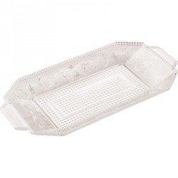 Bandeja de Plástico PS Lux Transparente Reutilizable 28,5 x 14,5 cm