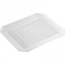 Bandeja de Plástico PS Lux Transparente Reutilizable 28 x 23 cm