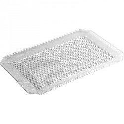 Bandeja de Plástico PS Lux Transparente Reutilizable 35 x 25 cm