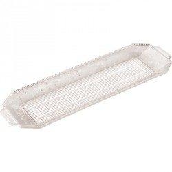 Bandeja de Plástico PS Lux Transparente Reutilizable 46 x 14,5 cm