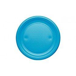 Platos de Plástico PS Azul Nube 20,5cm