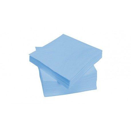 Servilletas Papel Punta Punta 40 x 40 cm Azul Baby 2 Capas