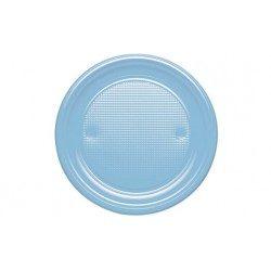 Platos de Plástico PS Azul Baby 20,5cm