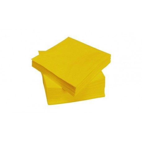 Servilletas Papel Punta Punta 40 x 40 cm Amarillas 2 Capas