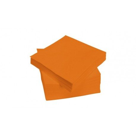 Servilletas Papel Punta Punta 40 x 40 cm Naranjas 2 Capas