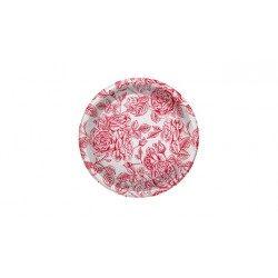 Platos de Plástico PS Postre Elegantes Rojos 18cm (6 Uds)