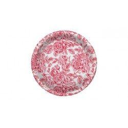 Platos de Plástico PS Llanos Elegantes Rojos 23cm (4 Uds)