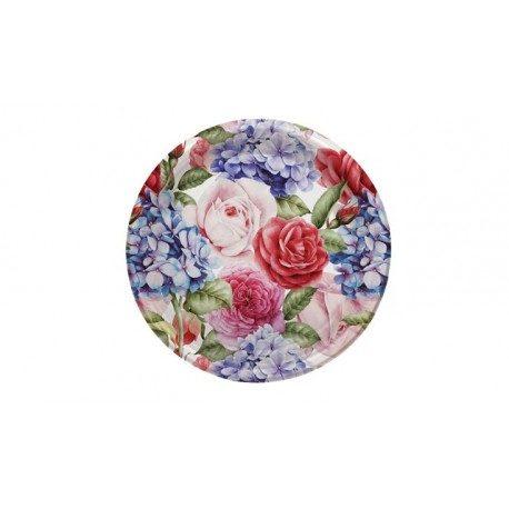 Platos de Plástico PS Llanos Flores Variadas 23cm
