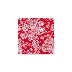 Servilletas de Papel Punta-Punta 33 x 33 cm Elegantes Rojas (20 Uds)