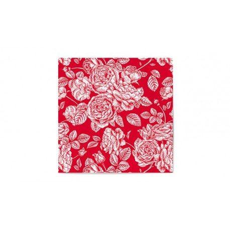 Servilletas de Papel Decoradas Elegantes Rojas