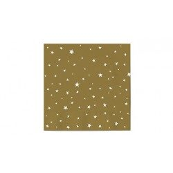 Servilletas de Papel Punta-Punta 33 x 33 cm Decoradas con Estrellas Doradas (20 Uds)