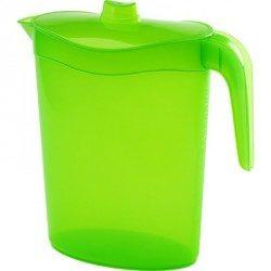 Jarra de Plástico Ovalada con Tapa Verde