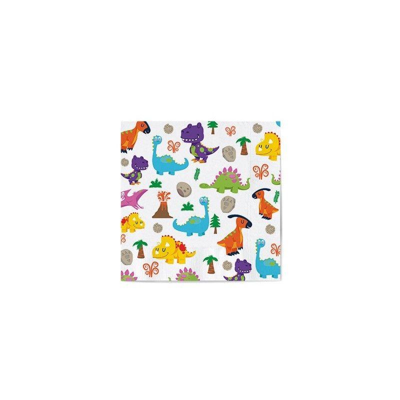 16/servilletas de papel con dibujos de dinosaurios 665012 tama/ño 33/x 33/cm para cumplea/ños infantiles