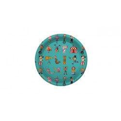Platos de Plástico PS Postre Circo 18cm (6 Uds)
