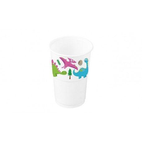 Vasos de Plástico PP Decorados Princesas 250ml (8 Uds)