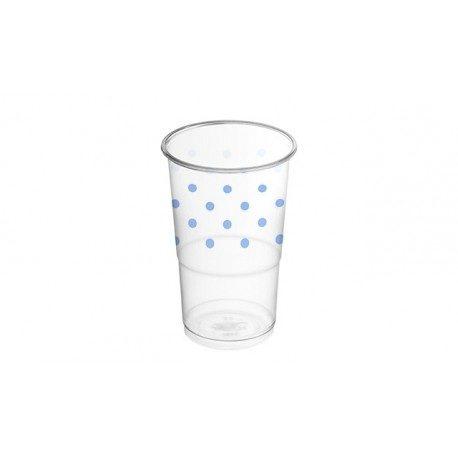 Vasos de Plástico PP Decorados Lunares Rosas 250ml (8 Uds)