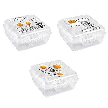 Huevera de plástico 6 huevos