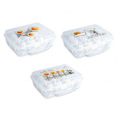 Huevera de plástico 12 huevos