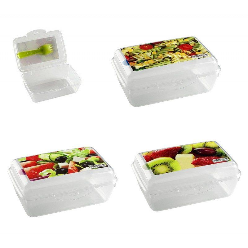 Taper con tenedor incluido para las comidas for Taper de comida