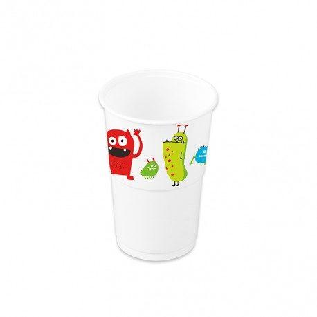 Vaso Plástico PP Decorados  Dinosaurios 250ml (8 Uds)