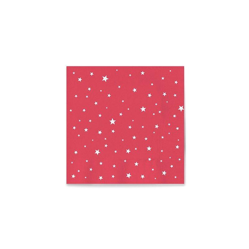 Servilletas de papel rojas decoradas con estrellas - Servilletas decoradas de papel ...