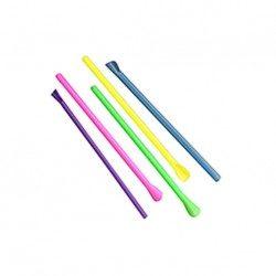 Cañas con Cucharita Colores Ø6mm x 21cm