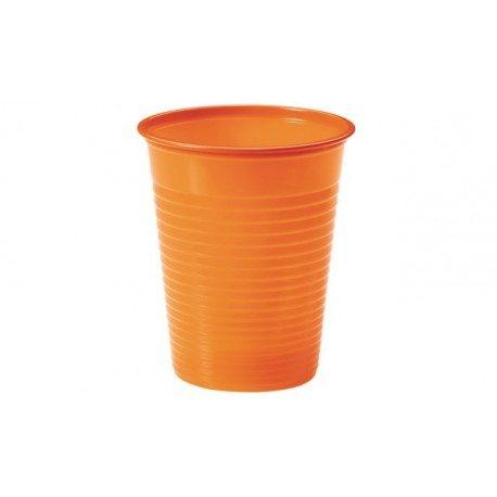 Vasos de Plástico Irrompibles 200ml Naranjas