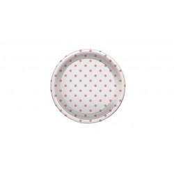 Platos de Plástico PS Postre Lunares Rosas 18cm (6 Uds)