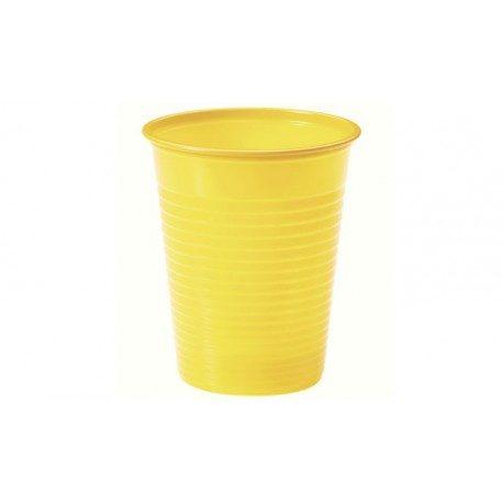 Vasos de Plástico PP 200ml Amarillos