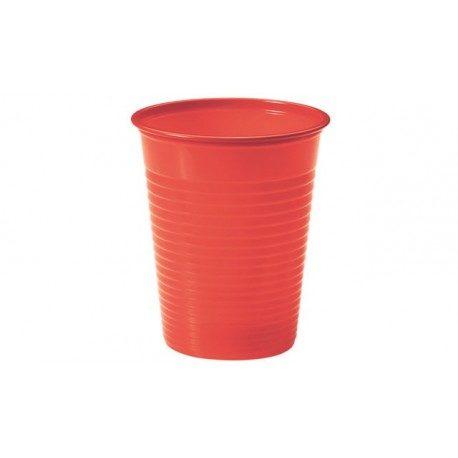 Vasos de Plástico PP 200ml Rojos