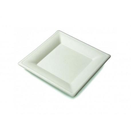 Platos Biodegradables Cuadrados 15cm