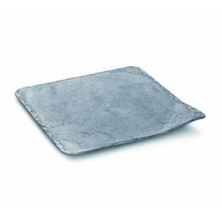 Platos de Plástico Duro PS Imitación Pizarra 20 x 20cm