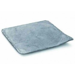Platos de Plástico Duro PS Imitación Pizarra 24 x 24cm
