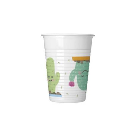 Vaso de Plástico Cactus 200ml (8 Uds)
