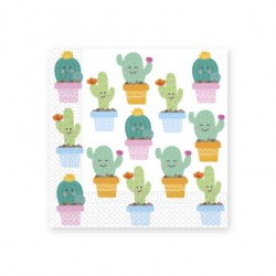 Servilletas de Papel 33 x 33 cm Decoradas Cactus (20 Uds)