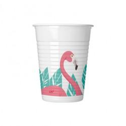 Vaso de Plástico Flamencos 200ml (8 Uds)