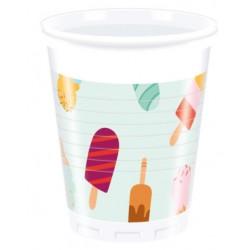 Vaso de Plástico Helados 200ml (8 Uds)