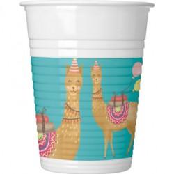 Vaso de Plástico Llama 200ml (8 Uds)