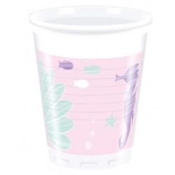 Vaso de Plástico Ocean 200ml (8 Uds)