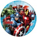 platos de carton papel superheroes marvel