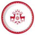 platos de carton papel decorados navidad