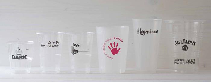 vasos personalizados de plastico