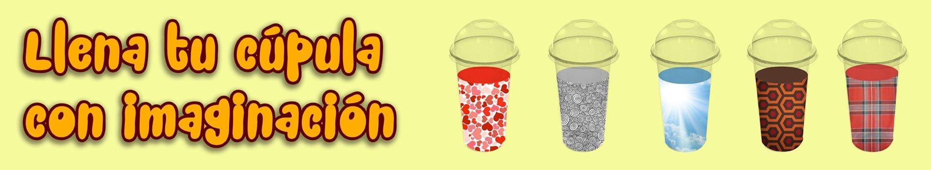 Vasos Pet con Tapa Cúpula